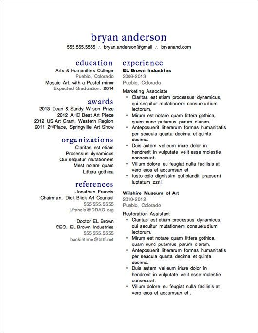 12 Resume Templates for Microsoft Word Free Download Microsoft - concise resume template
