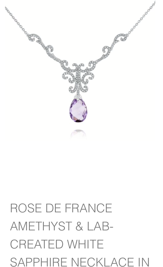 Amethyst necklace available at Helzberg Diamonds.