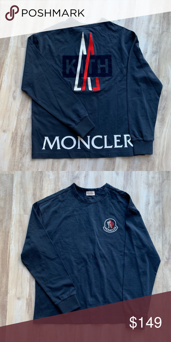 Kith x Moncler Long Sleeve Washed and worn, in Very Good