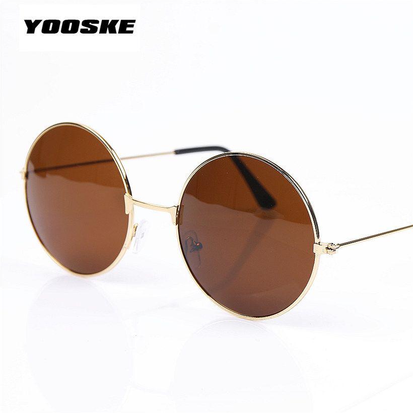 77830e4c3b YOOSKE Vintage Round Sunglasses For Women Men Brand Designer Mirrored  Glasses Retro Female Male Sun Glasses Men s Women s Pixel   Price   8.99    FREE ...