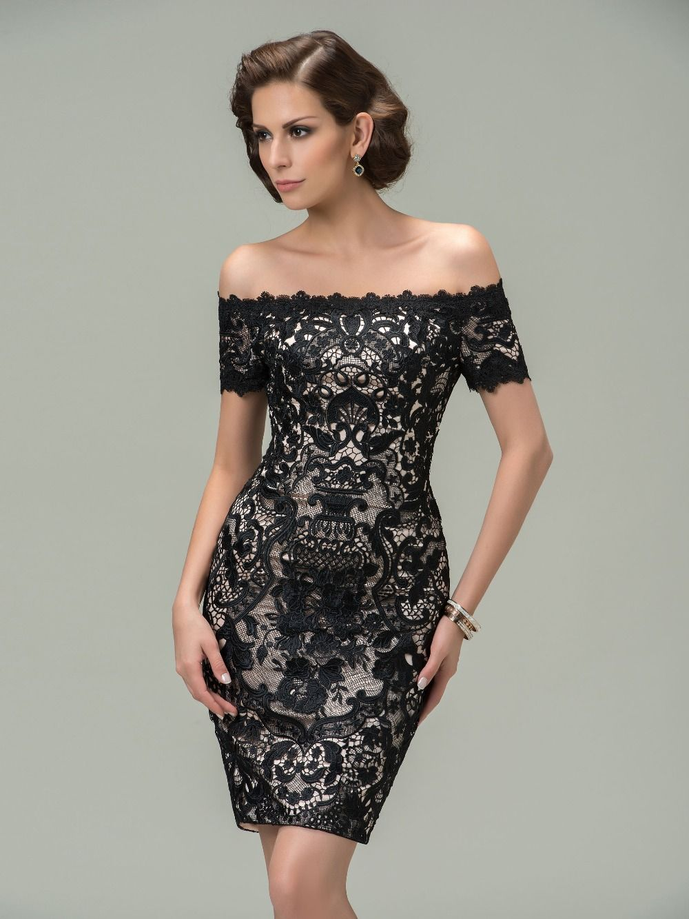 Trendy-Short-Black-Lace-Cocktail- | Fashion | Pinterest | Shorts ...