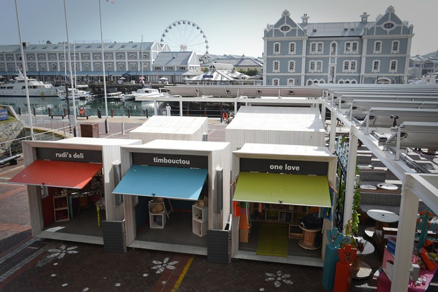 View of the Moyo Restaurant at the V&A Waterfront, Cape Town