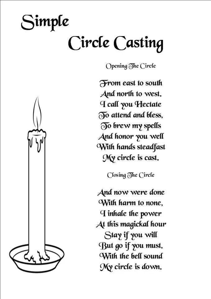 Simple circle casting   Spells/rituals   Witchcraft spells
