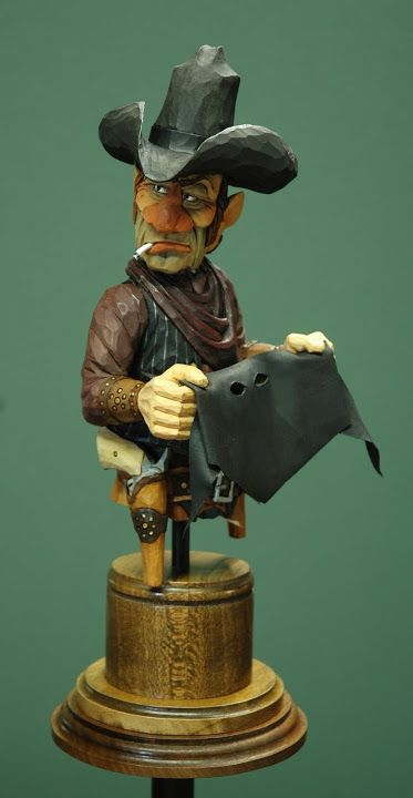 """""""Road Agent"""" carving by Lynn Doughty"""