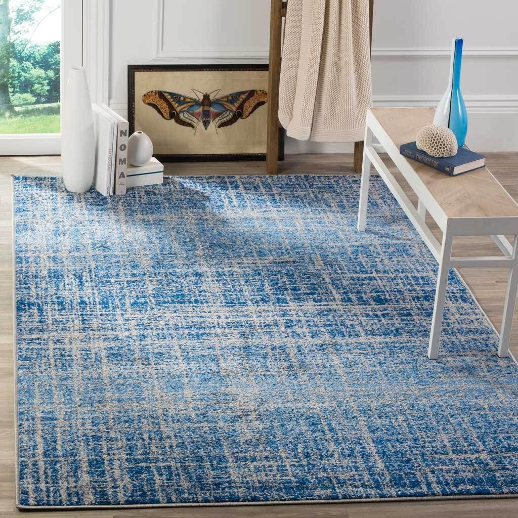 Adirondack Frequency Blue Silver Area Rug Rugs Area