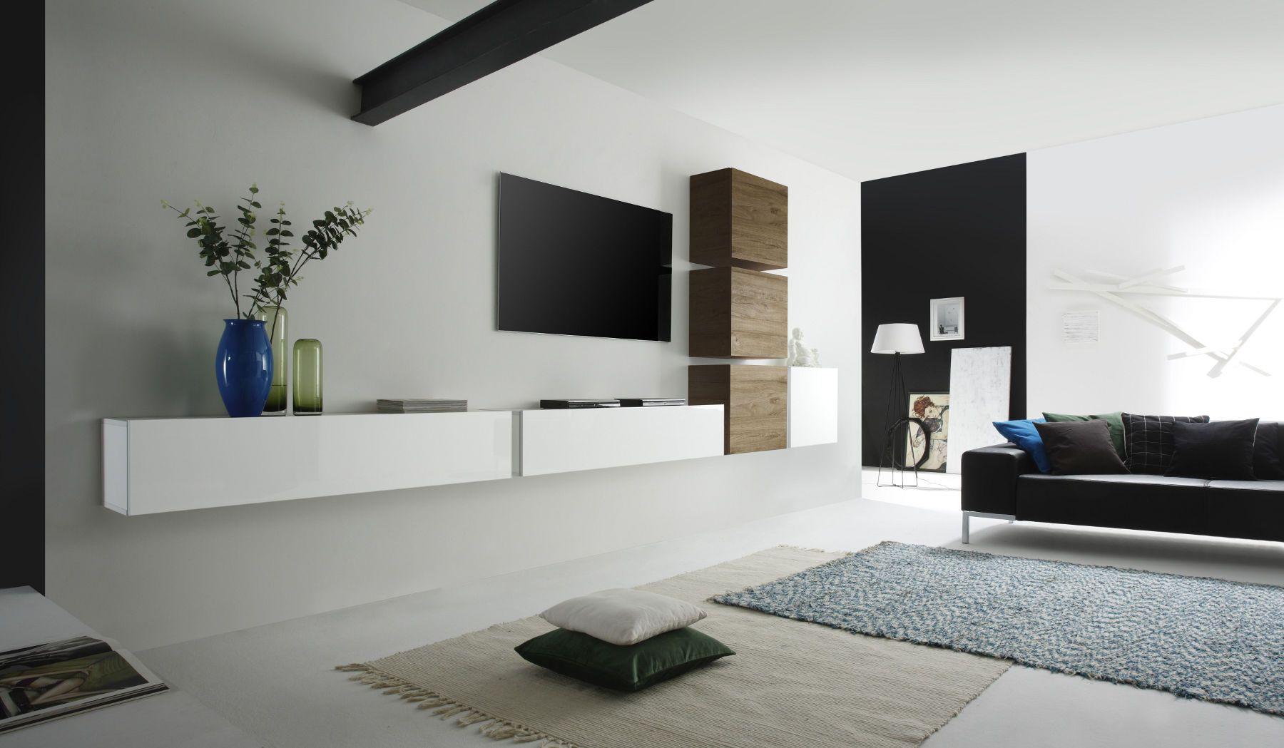 Moderne Wohnwand Weis Design - tubeimage.com