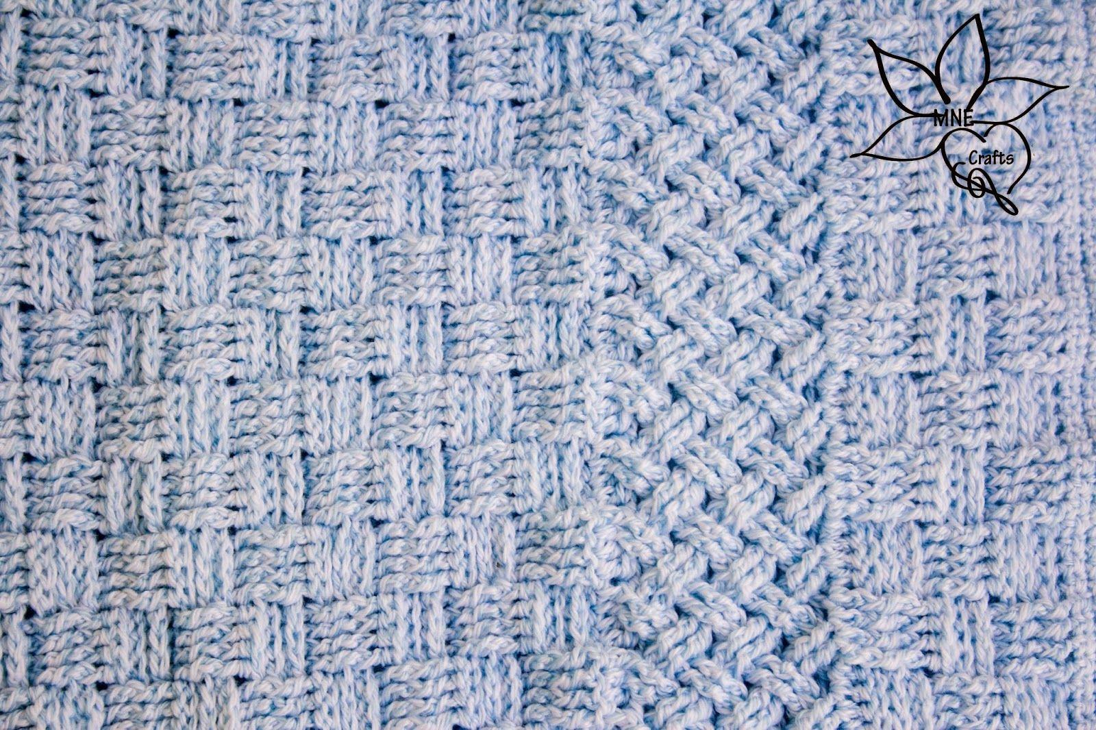 MNE Crafts: A Woven Crochet Baby Blanket | mayo | Pinterest | Cobija ...