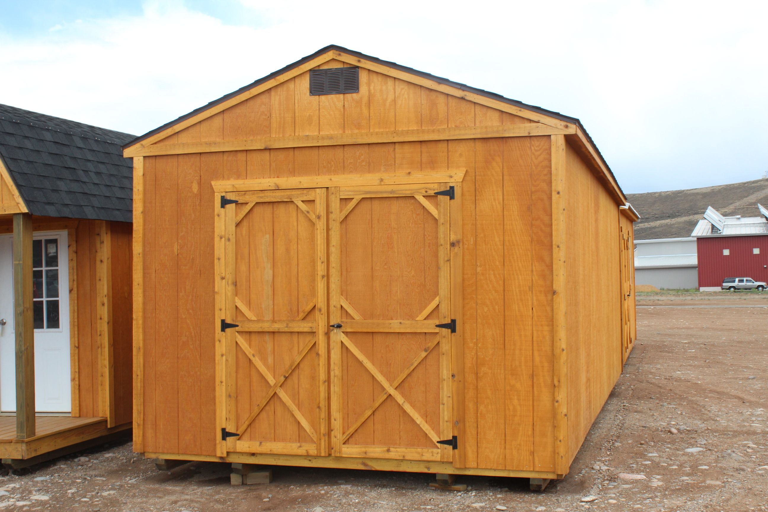backyard shed with gable roof utility storage sheds pinterest