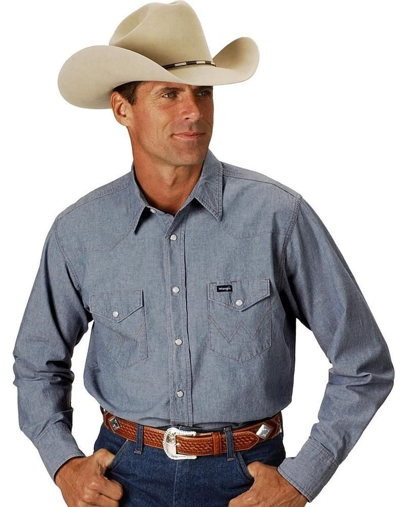 20a7bd338 Wrangler Chambray Work Shirt - MS70919_X1 #fashion #clothing #shoes  #accessories #mensclothing #shirts (ebay link)