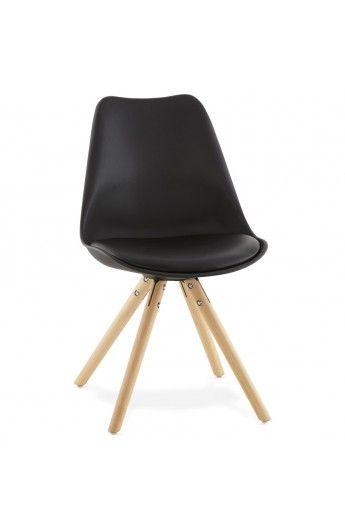 Chaise Scandinave Gouja Noire Chaises Chairs Eetkamerstoelen Designer Stoel Stoelen
