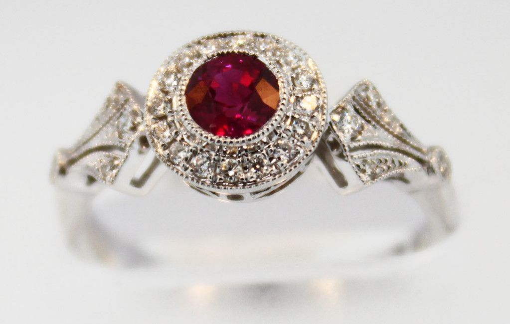 Ruby Rings Style And Diamond Ring 6882 Antique Design
