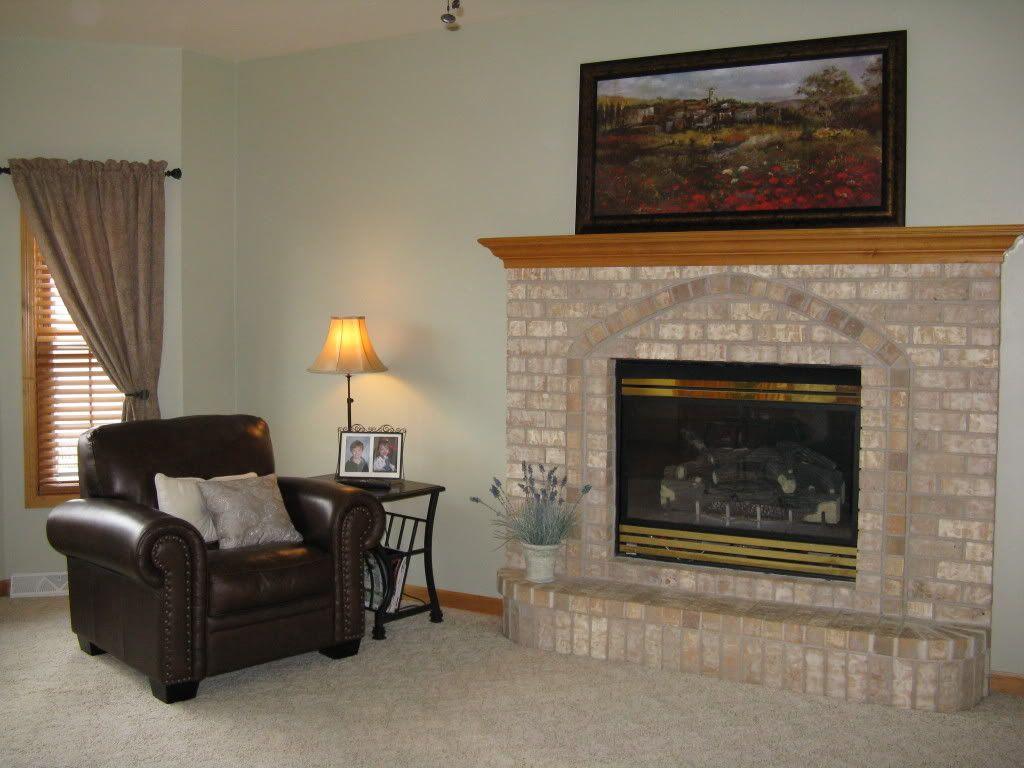 paint colors for honey oak trim | repainted my living room in sw