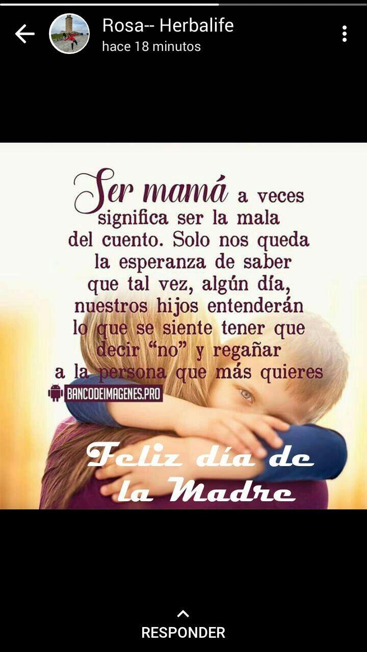 Pin De Paty En Dias Felices Frases Para Madres Feliz Día