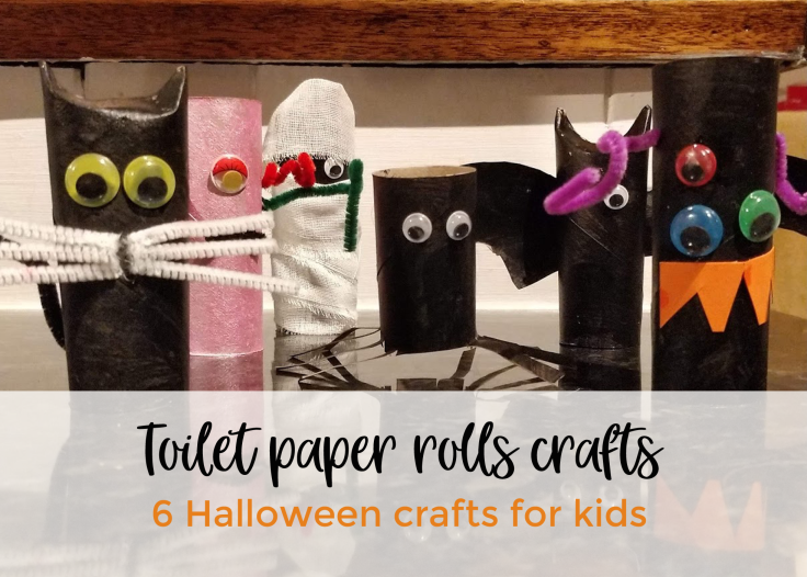Halloween crafts for kids toilet paper rolls craft is part of Kids Crafts Halloween Toilet Paper Rolls - Are you looking for some easy Halloween crafts to do with your kids, here are 6 easy and cheap ones made of toilet paper rolls