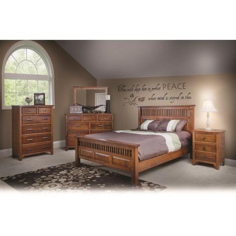 QW Amish Old World Mission 5pc Set Bedroom Furniture Bedroom
