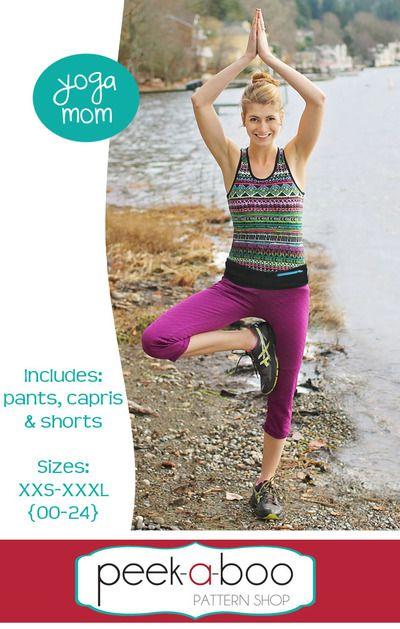 Yoga Mom Pants, Capris,& Shorts   Sewing   Pinterest