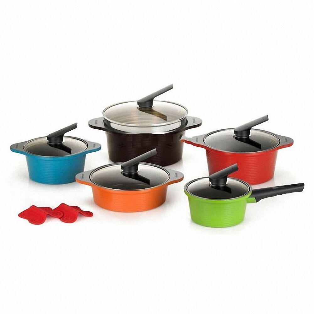 Happycall alumite ceramic pots kitchenware 5 set die