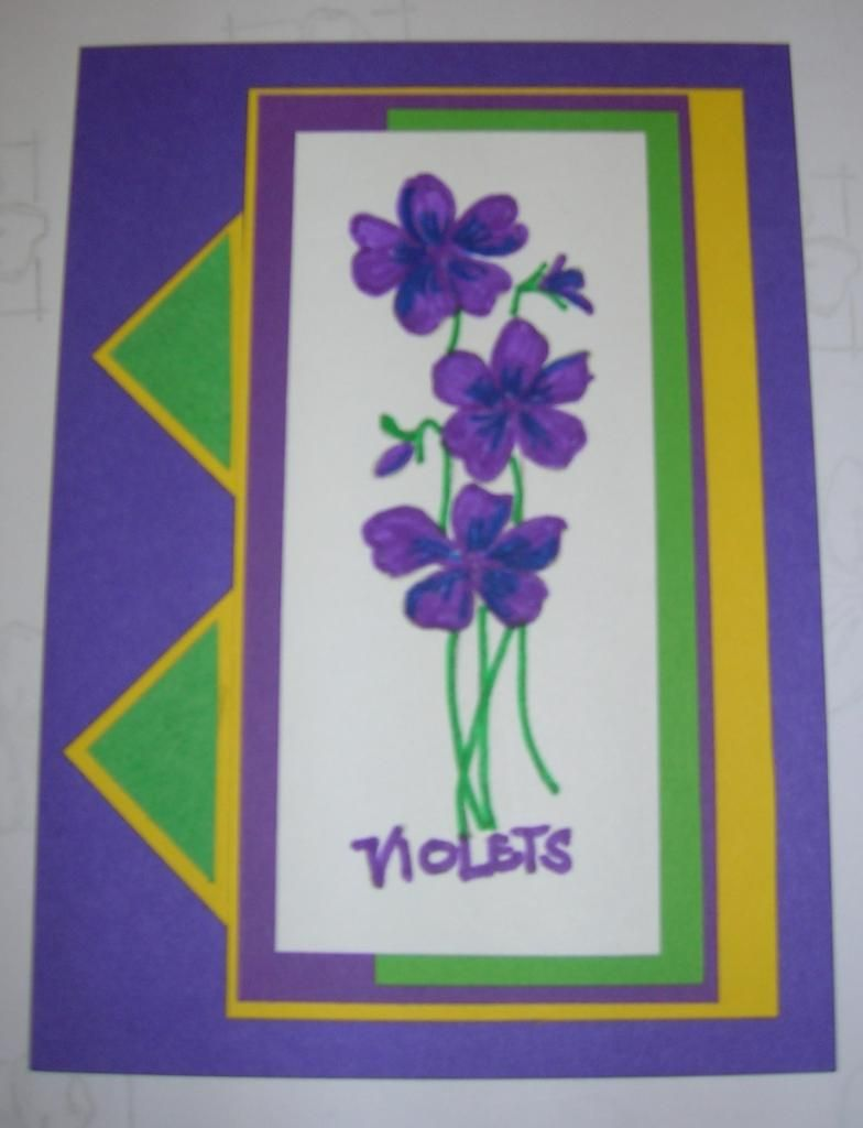 bright colors - markers to color in flower stamp