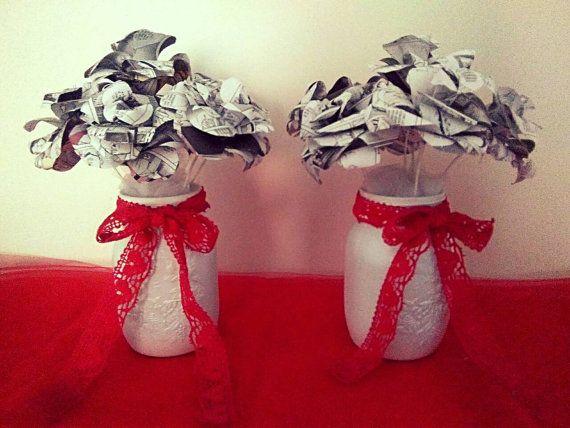 Guarda questo articolo nel mio negozio Etsy https://www.etsy.com/it/listing/479421263/bouquet-soprammobili-con-fiori-di-carta