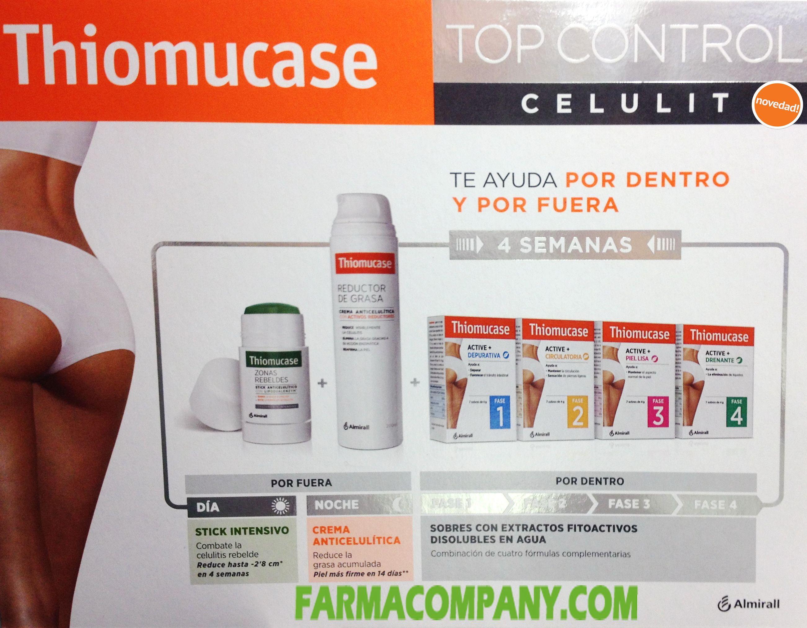 Thiomucase Top Control Celulit Pack Anticelulitico Grasa Cremas