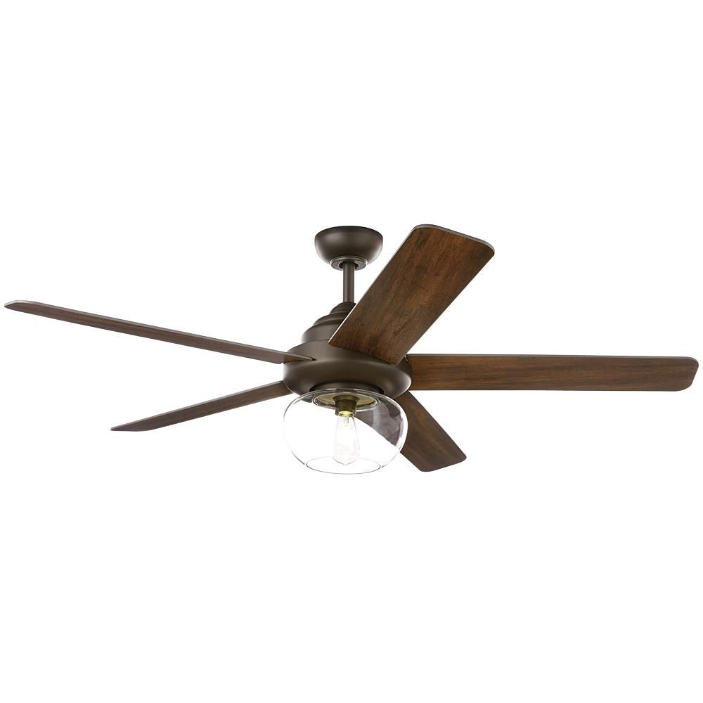 Home Decorators Collection Avonbrook 56 In Led Bronze Ceiling Fan With Light Kit And Remote Control 59256 The Home Depot Bronze Ceiling Fan Fan Light Ceiling
