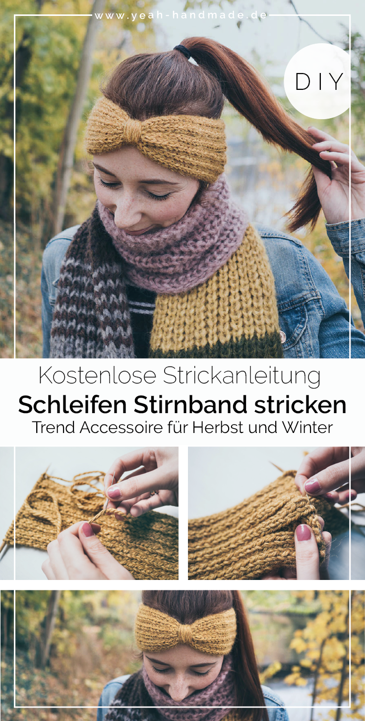 Photo of DIY Stirnband stricken: Schleife