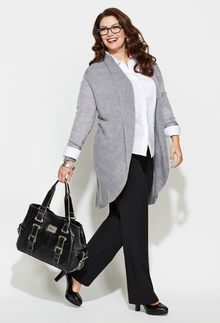Look Confident in meeting by wearing Plus Size Business Clothes ...