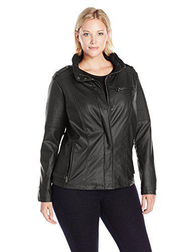 c4c7d69ce Celebrity Pink Juniors Plus Size Vegan Leather Moto Jacket with ...