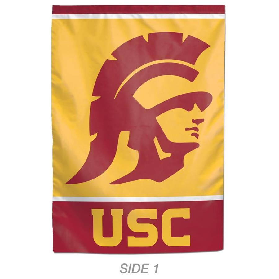 Wincraft Sports 1 Ft W X 1 5 Ft H Usc Trojans Garden Flag Lowes Com In 2020 Usc Trojans Sports Flags Usc
