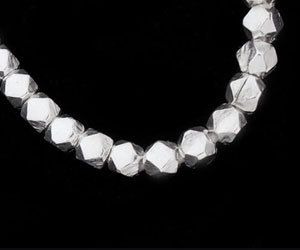 Karen Hill Tribe Silver 30 Faceted Beads 3.2 mm.