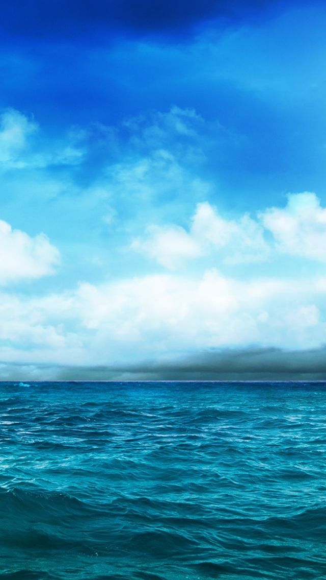 Wild Ocean And Blue Sky Iphone Wallpapers Blue Ocean Forest Landscape Ocean