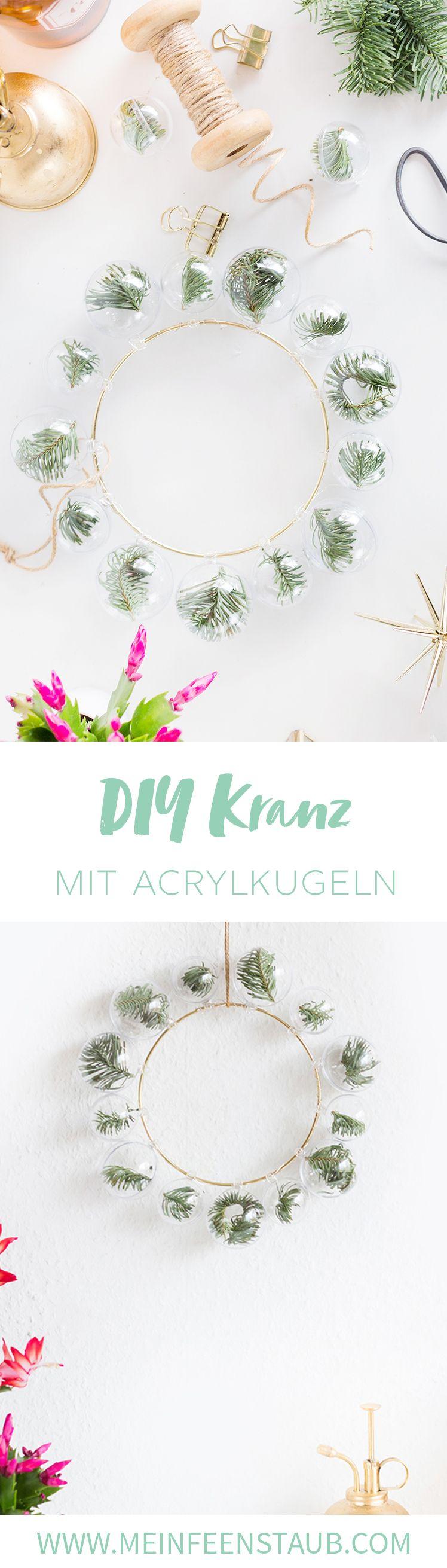 DIYnachten Türchen 10: DIY Deko-Ring mit Tannen-Weihnachtskugeln | mein feenstaub