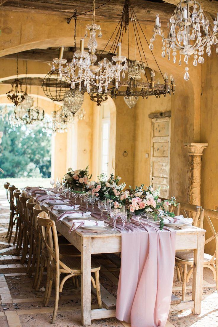 Wedding reception wedding decor ideas  Fall Wedding Inspiration with French Elegance at Deux Belettes