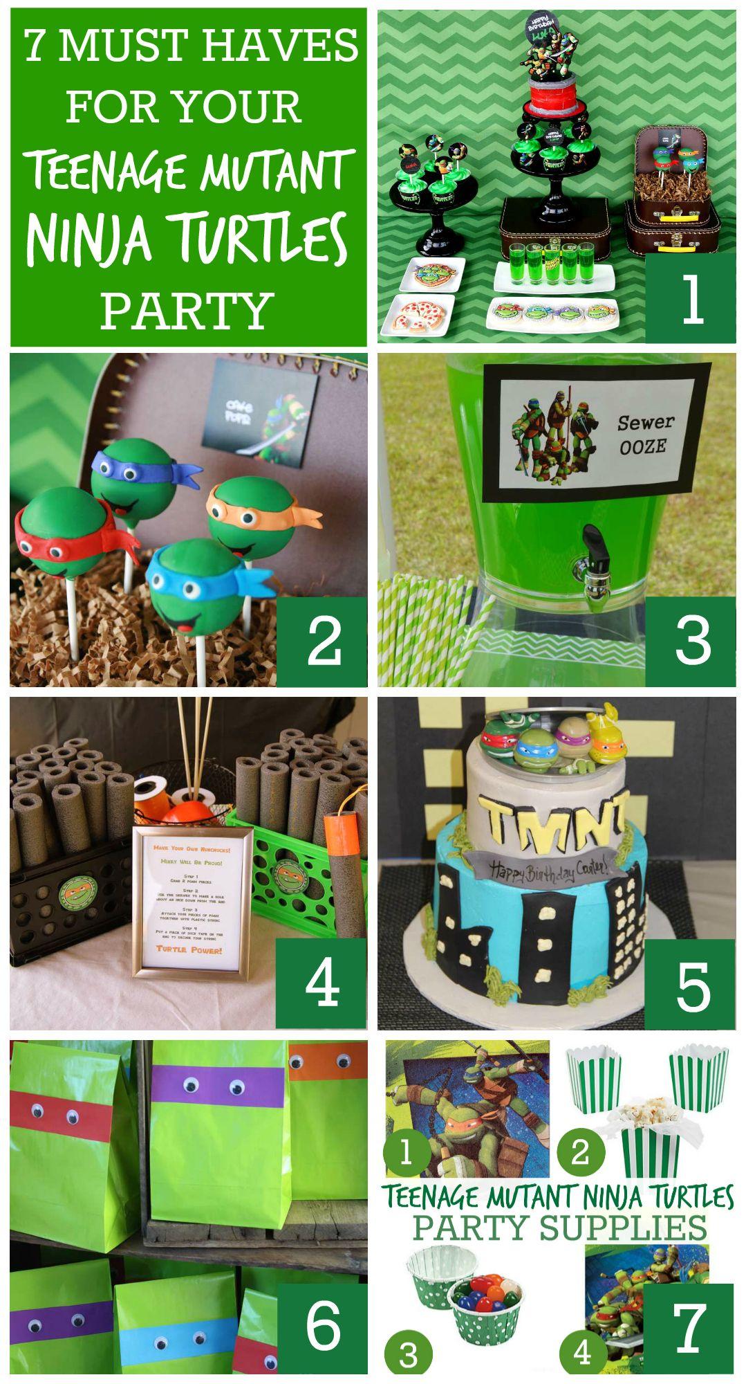 7 Must Have Teenage Mutant Ninja Turtles Party Ideas Turtle Party Ninja Turtles Birthday Party Turtle Birthday Parties