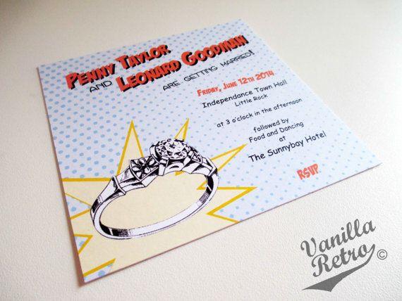 "printable 5""x5"" retro comic superhero themed wedding invitation, Wedding invitations"