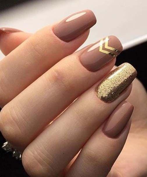 Brown and Golden Glitter Nail Art Designs 2018 - Brown And Golden Glitter Nail Art Designs 2018 Nail Art