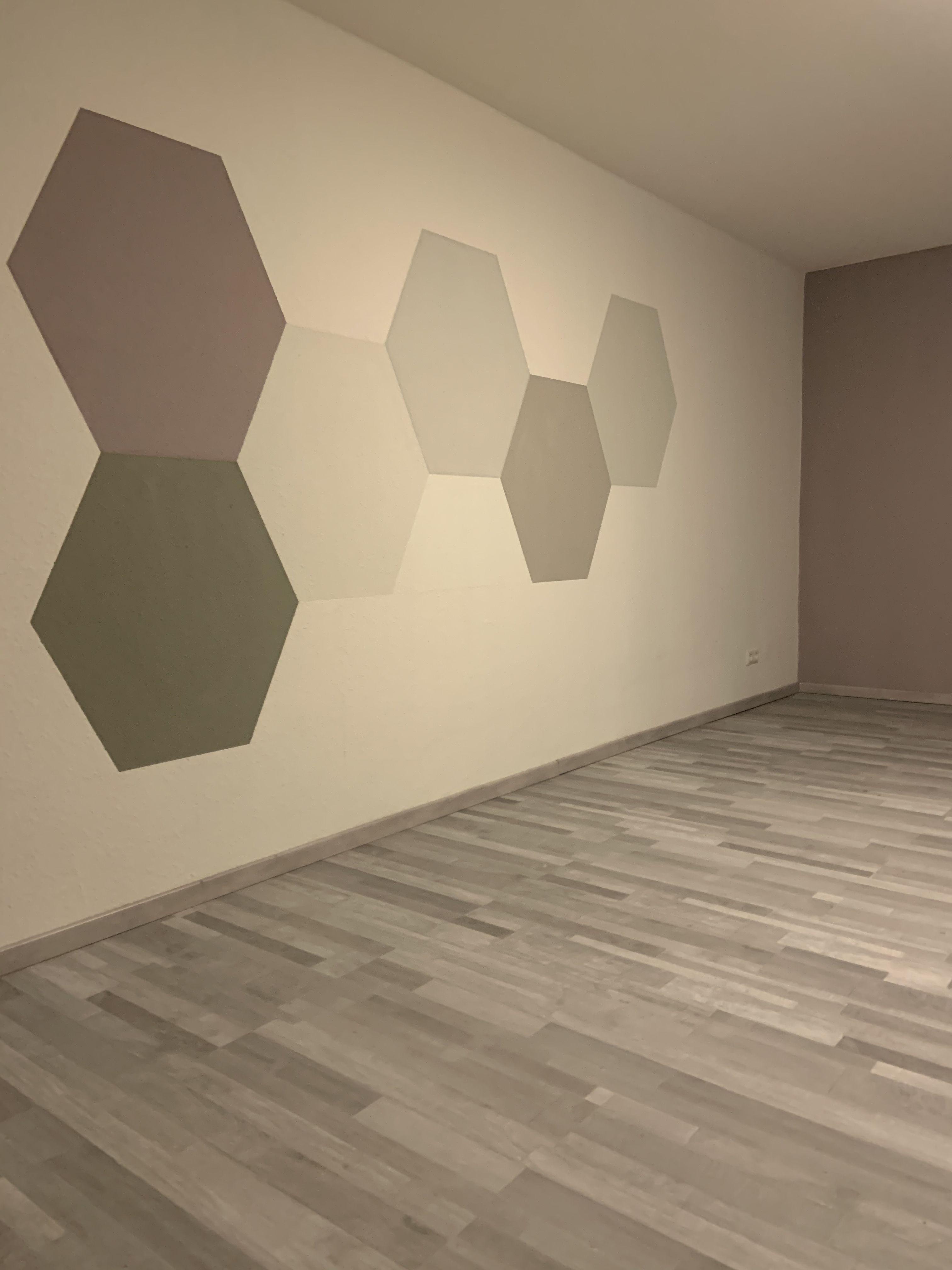 Wand Streichen Ideen Sechsecke Wandgestaltung Wohnzimmer Wände Streichen Wände Streichen Ideen Wandgestaltung