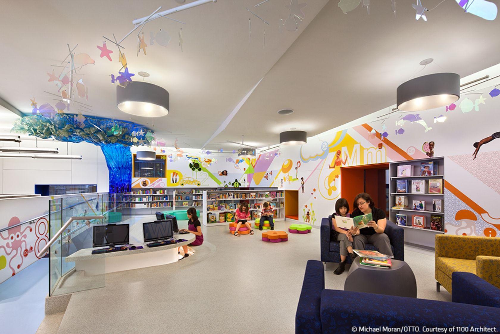 Queens Central Library Children S Library Discovery Center Interior Design Awards Interior Design School Interior Design