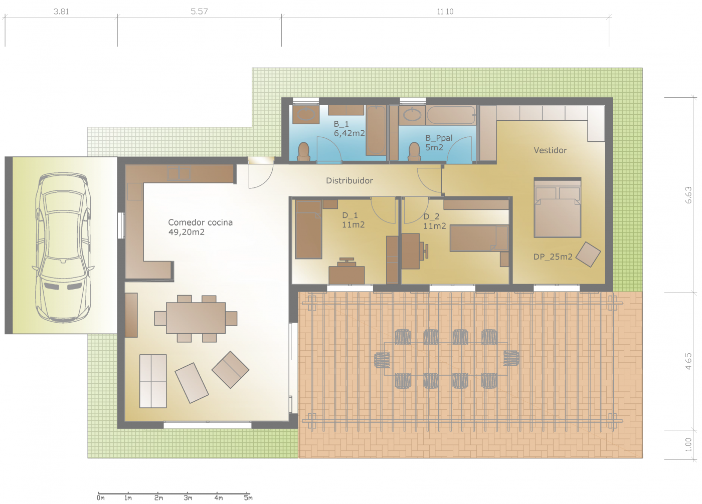Plano de planta dise o casa rustica moderna - Diseno casas rusticas ...