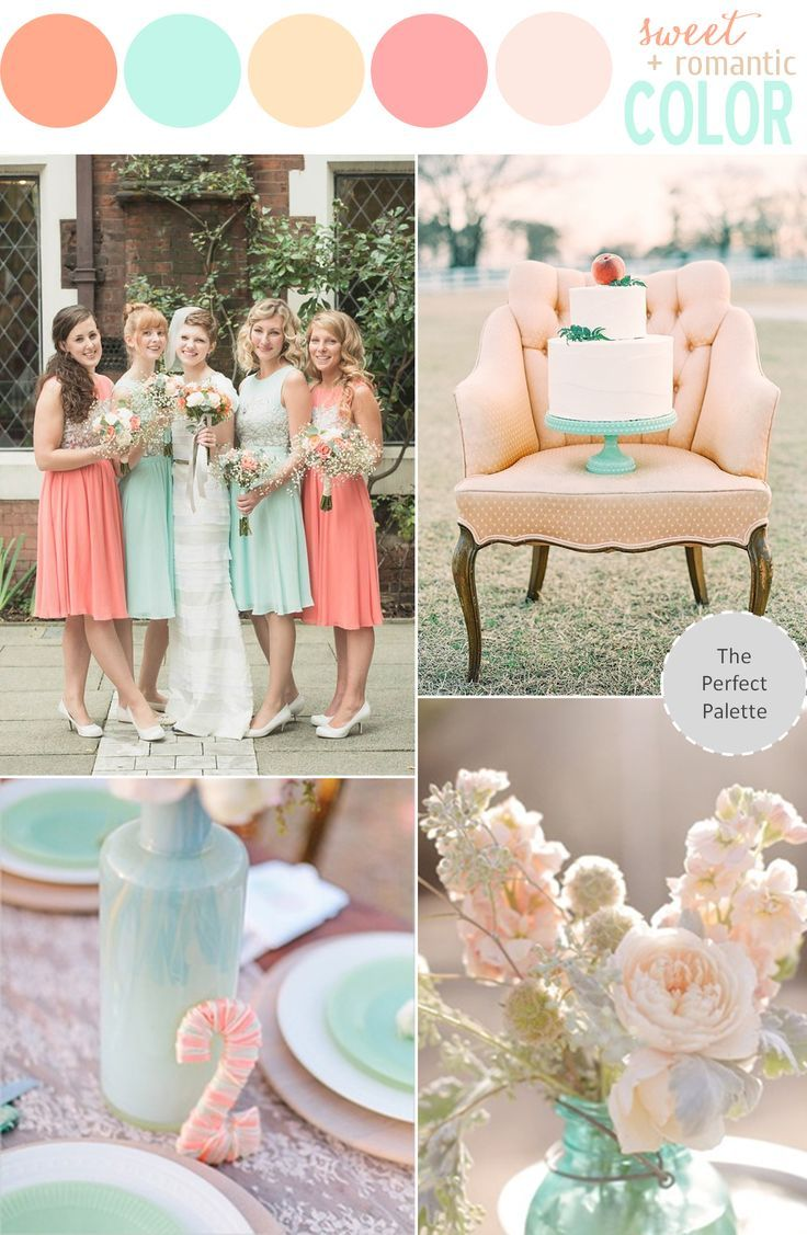 Color Story Wedding Pinterest Peach Weddings and Wedding
