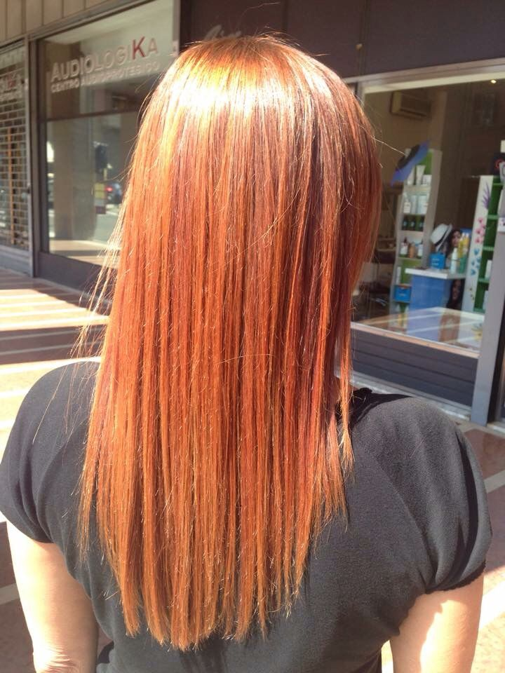 #blondeorange capelli ramati Matrix