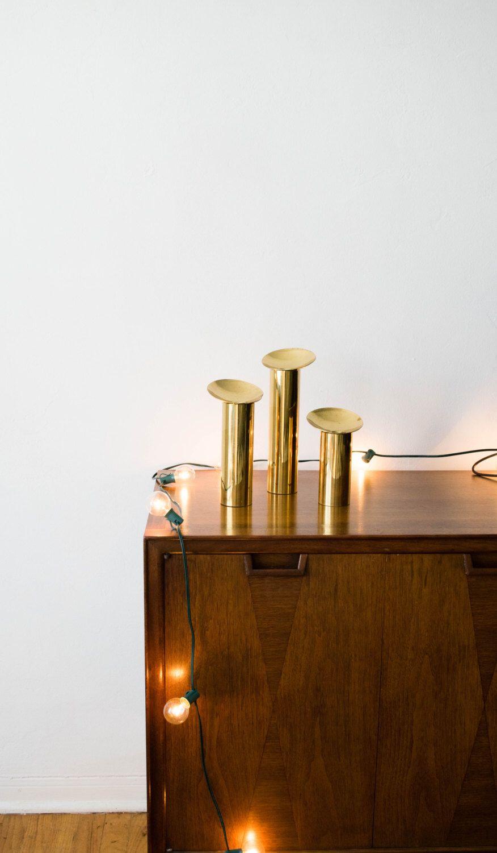 Messingkerzenhalter kerzenhalter set mitte des jahrhunderts modernen haus danish modern moderne häuser danishes dänemark maßstab kerzen