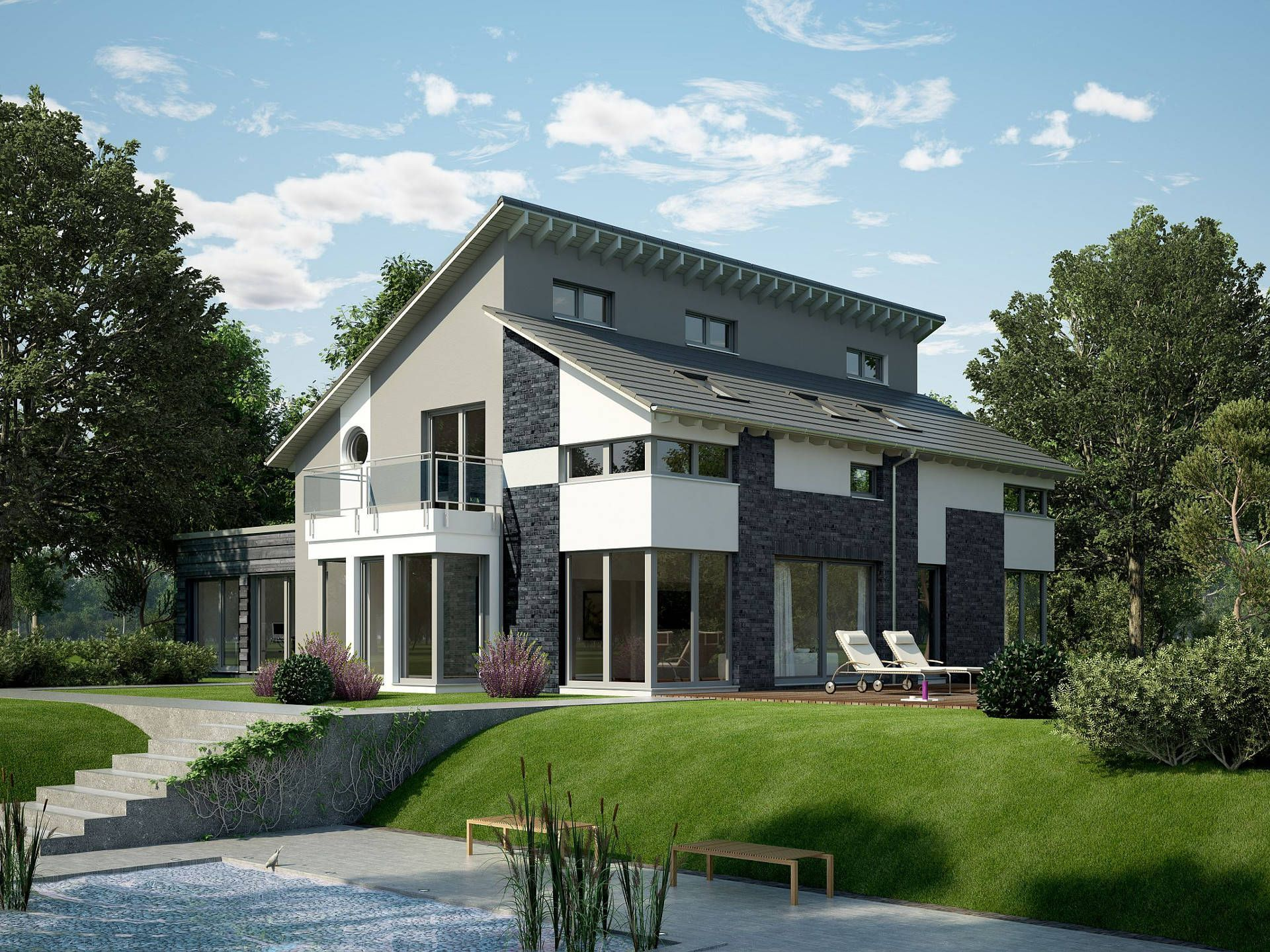 okal haus pultdachhaus bauen pinterest. Black Bedroom Furniture Sets. Home Design Ideas