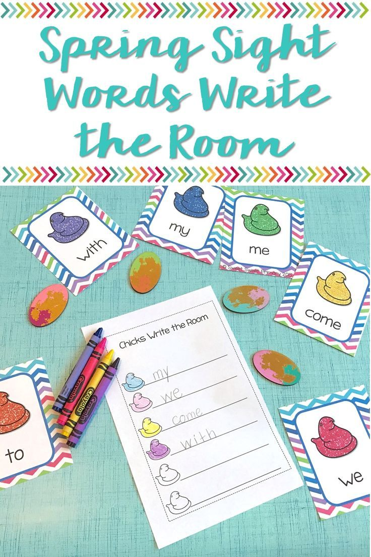 Spring Sight Words Write the Room | Word work centers, Word work and ...