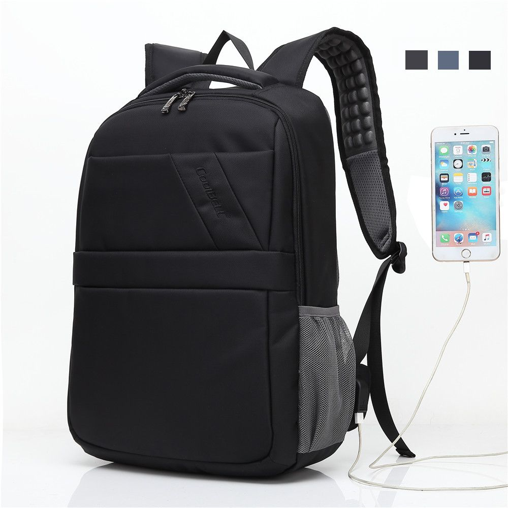 Double Shoulder Laptop Bag 15.6 inch Backpack Travel Hiking School Business Notebook USB Computer Carrying Case for Macbook Asus #Affiliate