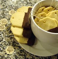 Tea Bag Shortbread Cookie. Made them for a tea party as take away gifts. Super cute!