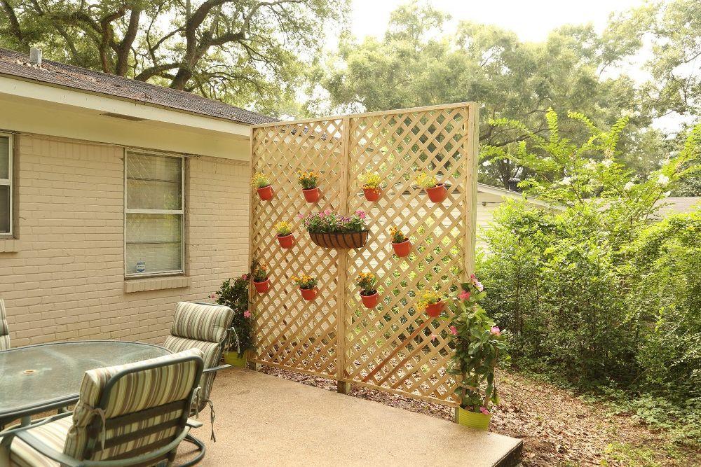 Lattice Wall for Backyard Privacy | Lattice wall, Backyard privacy ...