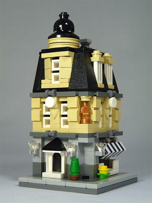 Lego Mini Modulars Moc Central Plaza 画像あり レゴ 建築