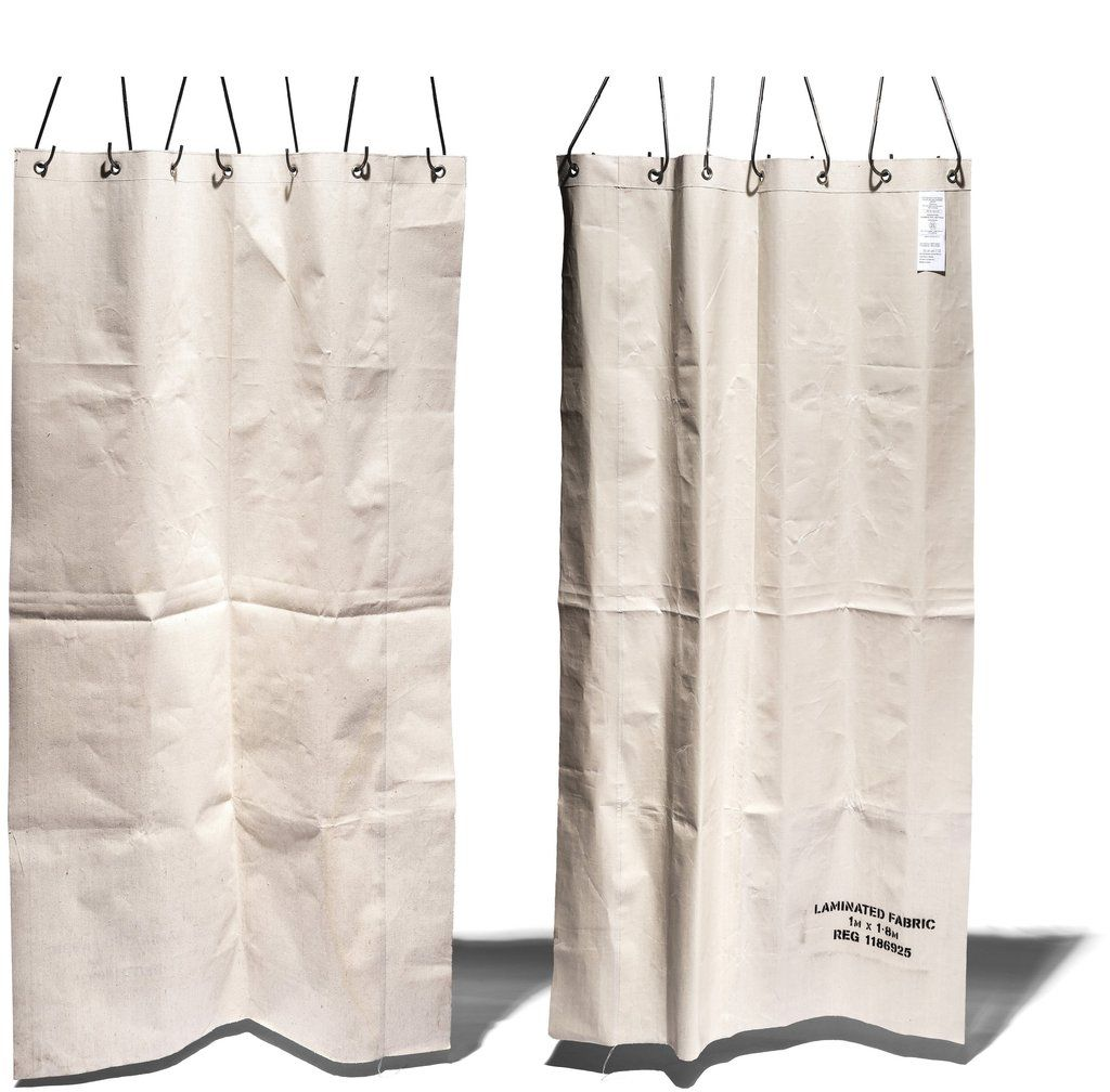 White Laminated Fabric Curtain Design By Puebco Burke Decor