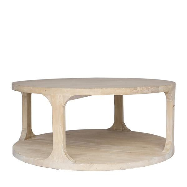Grady Coffee Table Gray Wash Wax Small Coffee Table Round Wood Coffee Table Table